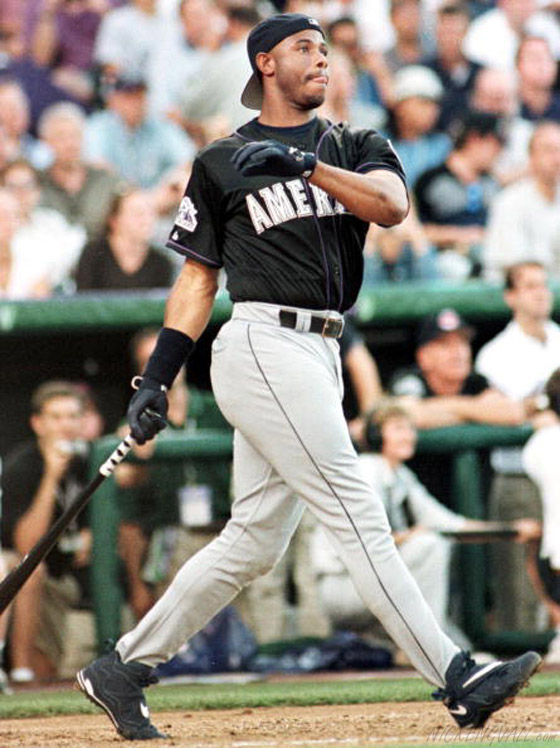 Ken Griffey Jr. wearing the Nike Air Griffey Max III