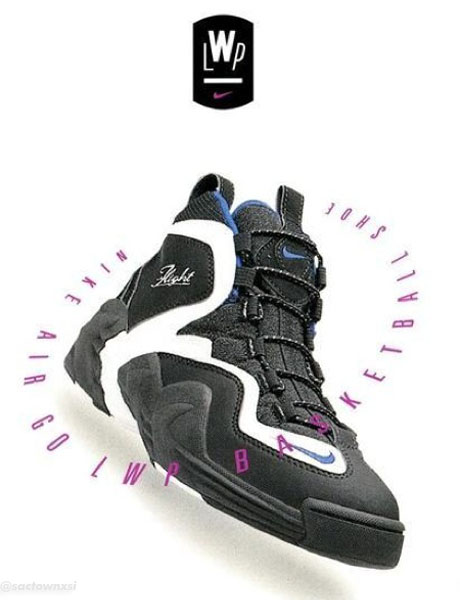 Nike Air Go LWP Original Ads - Black/White-Varsity Royal
