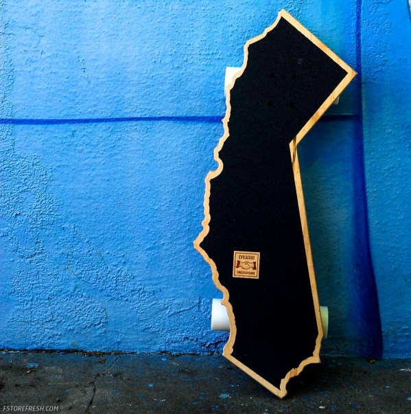 California shaped skateboard. Rad.