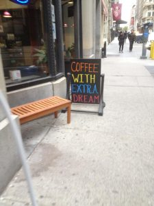 Coffee With Extra Dream, Showbiz Cafe, 21st Street, NYC