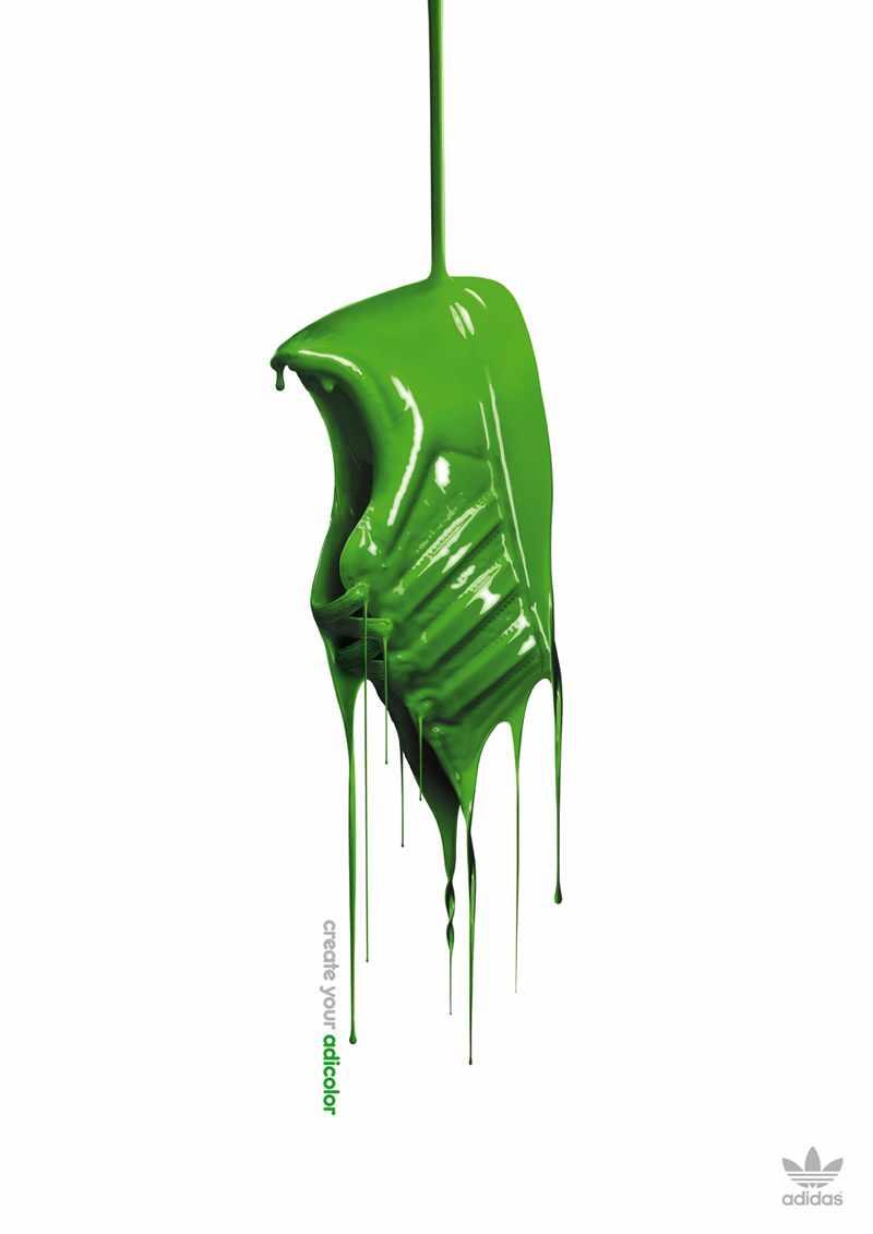 adidas Adicolor Paint Drip Sneaker Advertisement