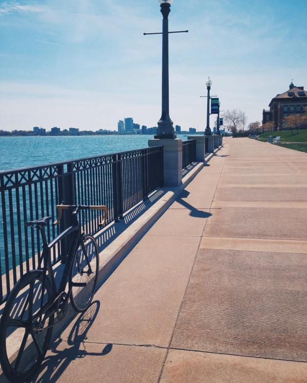 Biking the Detroit Riverwalk/Riverfront
