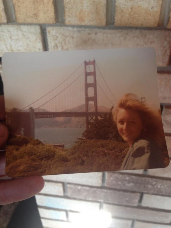 My mom in front of the Golden Gate Bridge a long time ago. Clearly she gives me my good looks and my appreciation for San Francisco.